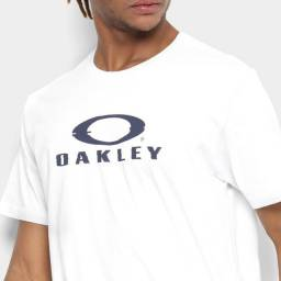 Camiseta Oakley Glitch Branded Masculina - Branco