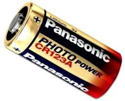 Bateria Pilha Cr123a Panasonic - 3v Lithium - Nova, Original, Lacrada!