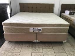 ::Conjunto Cama Box Colchao Evolution Queen Size Probel (158x198) A PRonta Entrega;;