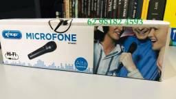 Microfone Alta qualidade para Karaoke Cabo 1M Incluso