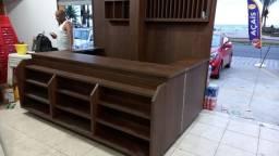 Balcão caixa sob medida para cafeteria, padaria lanchonete montagem