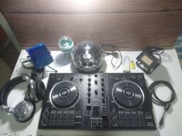 Controlador DDJ - RB Pionner DJ com Kit Iluminação p/ Festa.