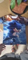 Camisa infantil sonic nova