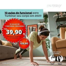 10 aulas de treino funcional para treinar em casa por apenas R$ 39,90!