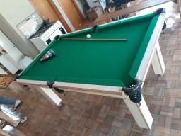 Mesa Tentação Carlin Cor Noce Tecido Verde Mod. HIYM6517