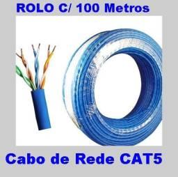 Cabo de Rede Cftv 4 Pares Lan/utp Preto Rolo 100 Metros- Azul Cabo P/ Internet