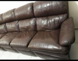 Sofá de couro legítimo PARA REFORMAR VEJA AS FOTOS