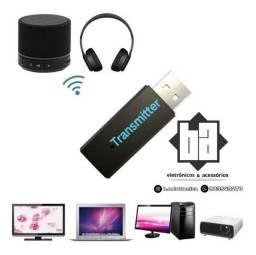 Transmissor de audio da TV P/ Seu Fone Bluetooth Via Conexão P2 3.5mm