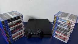 PlayStation 4 Fat semi novo com garantia - SOMOS LOJA