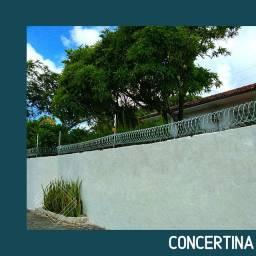 Concertina- Material e instalação.