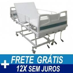 Cama Hospitalar Fawler 3 Manivelas Com Elevação Comfort Clean