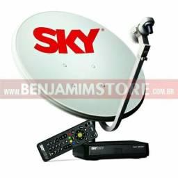 Vendo uma Sky pré pago , com antena e receptor ou troco em algo