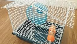 Gaiola Hamster + Forração + Granulado + roda + bebedouro