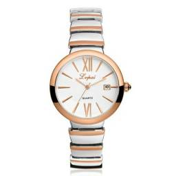 0d0517f78ed Relógio Feminino Lupai Cor Ouro Rosé c  Marcação de Data 100% Novo e  Original