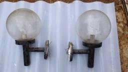 Par de arandelas grande globo de vidro /// Aceito proposta
