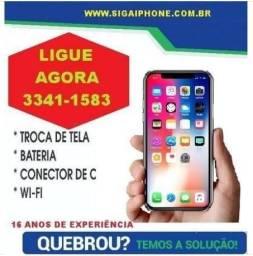 Iphone 5S 149,90 Troca de Tela Somos Assistência Técnica Conserto Manutenção Reparo Apple