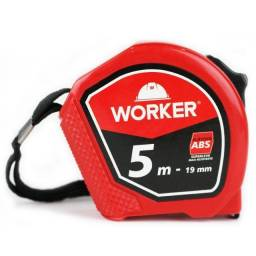 Trena 5m X 19mm Abs vermelha   Worker