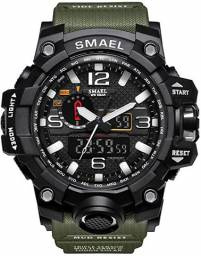 Relógio Masculino Militar Smael 1545 Original Prova D'água