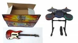 Bateria Guitar Hero Ps3 - Bateria + Guitarra + Microfone