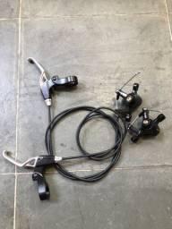 Kit freio a disco para bike