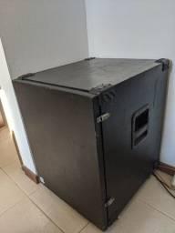 PA Profissional - Amplificador + Caixas + Mesa de Som + Case + Cabos de Conexão