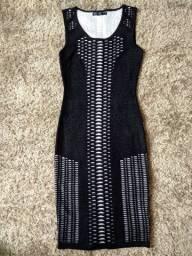 Vestido MIDI em tricô veste P e M produtos femininos
