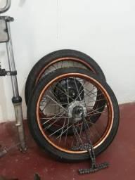 Vendo rodas de mobilete traseira biz