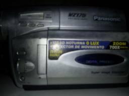 Panasonic Filmadora VZ 175 VHS Zomm 700×Digital Visão Noturna Detector de Movimento