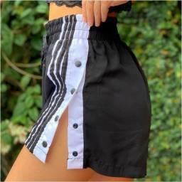 10 Peças Atacado Short Shorts shortinho Com botões lateral botões do lado faixa Listra