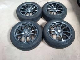 Rodas aro 17 pneus Michelin
