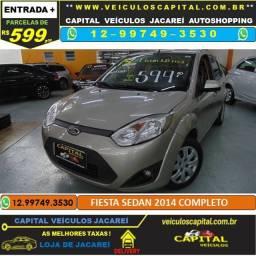 Fiesta Sedan 2014 parcelas de 599 reais ao mês 1.6 Flex