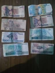 Vendo 8 notas de dinheiro antigo cruzeiro lote