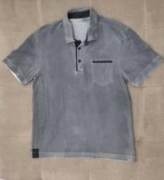 Camisa polo cinza listrada