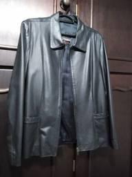 Jaqueta de couro legítimo preta Tam M