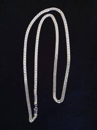 Cordão de prata grumet duplo