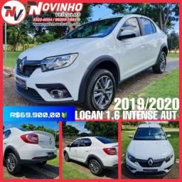 Renault/ Logan Intense 1.6 AUT. Câmbio CVT. 2019/2020