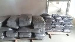 Palha de arroz  carbonizada