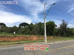 Terreno no Centro de Piraquara-PR. 792m² - Entrada R$15.000 - Parcelas R$3.331,13