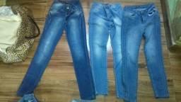 Calças jeans.