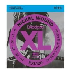 Corda/Encordoamento Daddario 009 Para Guitarra Exl120b