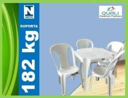 jogo de mesa com cadeira plástica suporta 182kg