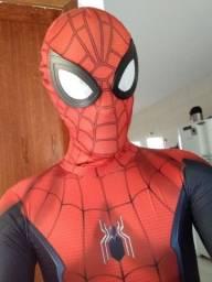Cosplay homem aranha adulto