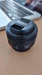 Lente Canon 50mm 1.8 aceito cartão