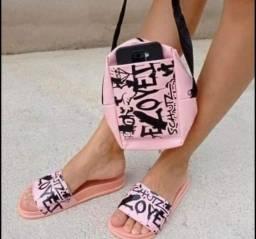 Título do anúncio: Conjunto de sandalia e bolsa com preço incrível.
