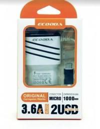 Carregador Rápido ECOODA 3.6A  Tipo V8 / Micro USB