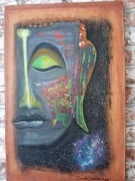 Quadro Psicodelic Buddha