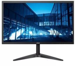 "Título do anúncio: Desktop com 1 monitor ""top"" novo, e teclado microsoft"