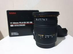 Lente Sigma 17-50 f/2.8 para Canon