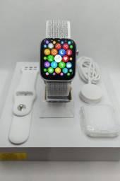 relógio smartwatch iwo 14 w66 novo original + 2 brindes