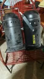 Canhão Refletor Preto Para Lampada Halógena 1000w 220v